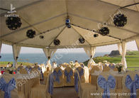 Team Outdoor Party Tents , Fire Resistant Commercial Backyard Tents For Parties