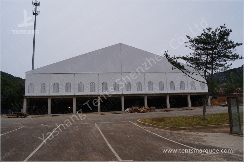 High Performance 1500 Seater Luxury Wedding Marquee Hire , Custom Marquee Decoration