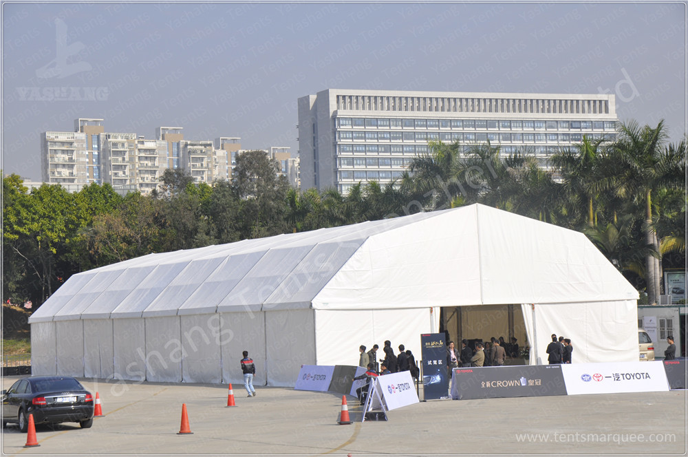 Professional 15X40 M Double Pitch Car Show Outdoor Exhibition Tents Environmentally Friendly
