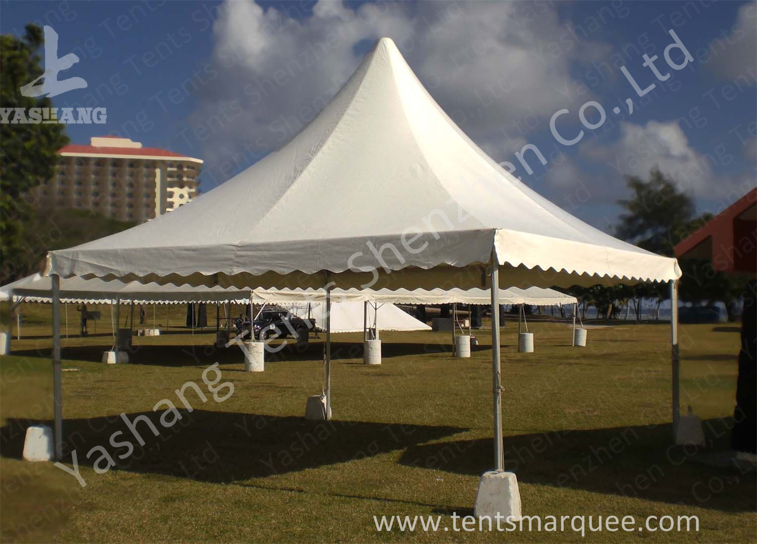 No Wall High Peak Tents, Pagoda High Peak Party Tent Polyester Fabric Cover