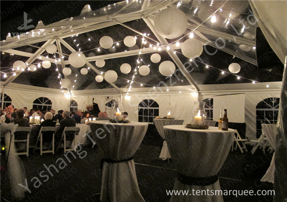Beautiful Transparent PVC Cover Aluminum Alloy Frame Luxury Outdoor Marquee Tent For Wedding