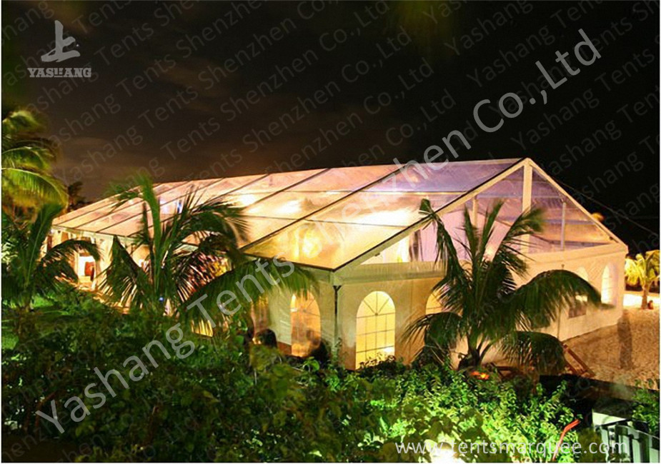 Transparent PVC Fabric Cover Luxury Wedding Tents Buildings With Aluminum Profile