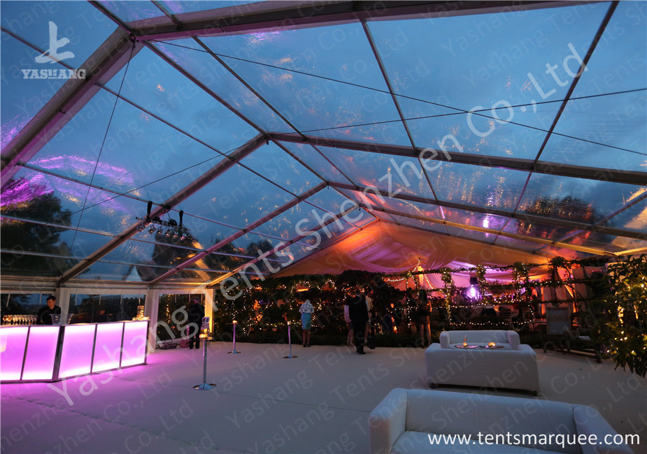 Large Span Clear Top Outdoor Wedding Event Tent With Aluminum Alloy Profile