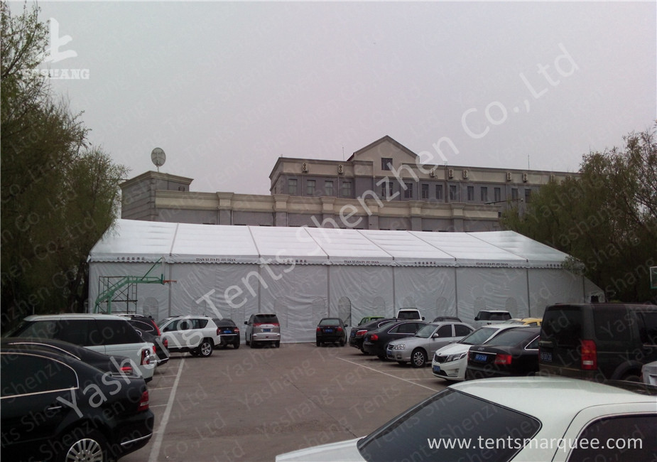 White Tarpaulin Cover Aluminium Frame Tents , Parties And Events Unique Marquee Hire