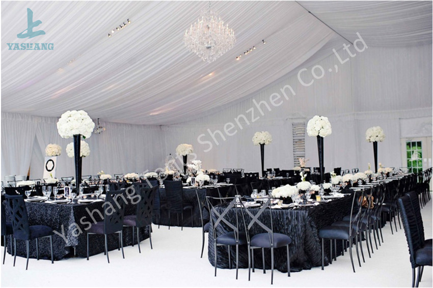 High Strength Wedding Party Tent With Clear Roof , Aluminum Profiles