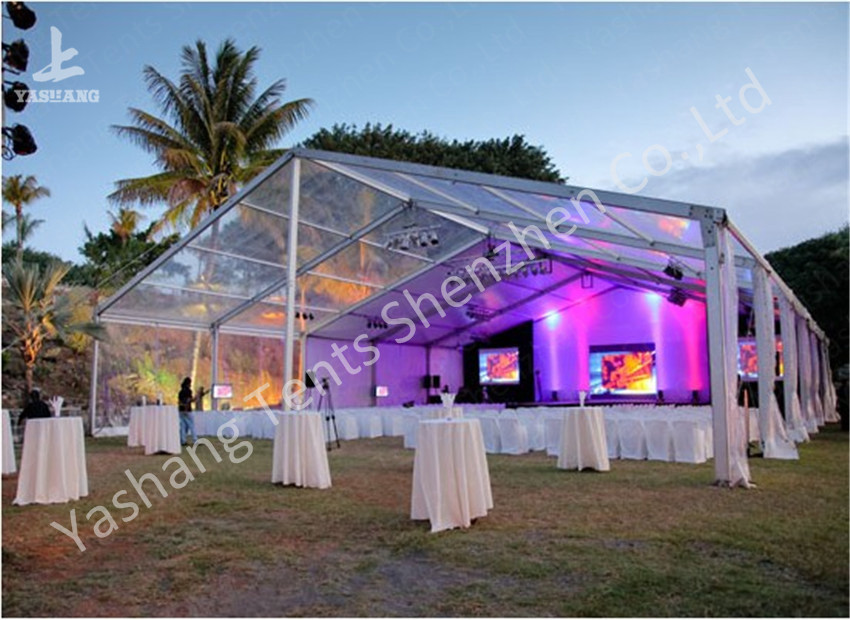 PVC Fabric Cover Clear Top Tent / Clear Canopy Tent With Aluminum Profile