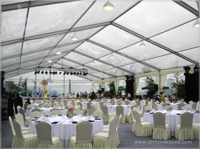 Portable Large Clear Span Fabric Structures Black PVC Fabric Roof Cover