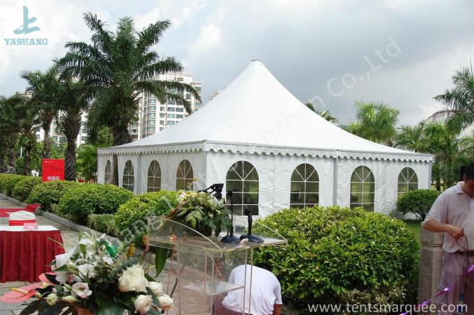 Sunshade High Peak Party Tent Gazebo Canopy With Transparent PVC Windows